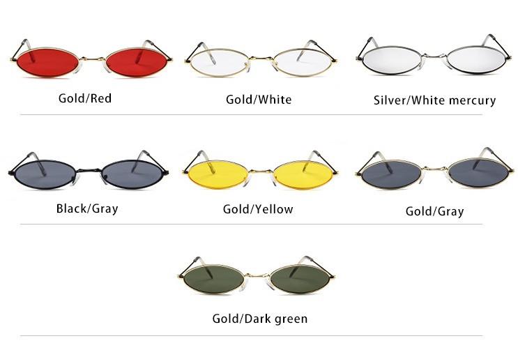 Солнцезащитные узкие очки