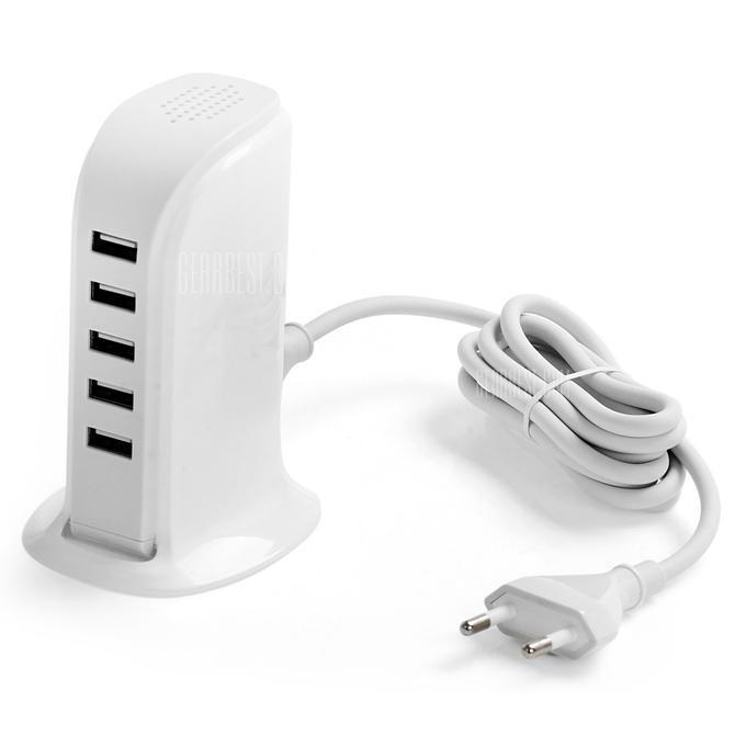 Зарядное устройство USB Power Adapter 20W (5 USB 5V/4A)