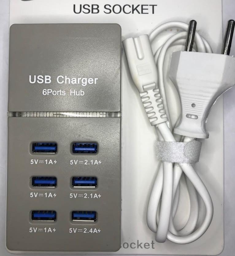 Зарядное устройство S6 USB Cgarger 6 Port 1,2 м