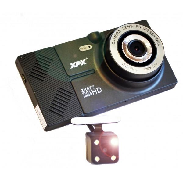 Видеорегистратор с навигатором XPX ZX577 с камерой заднего вида