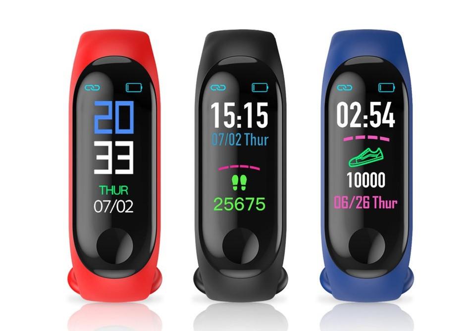 Фитнес браслет M3 intelligence health bracelet c измерением пульса и давления
