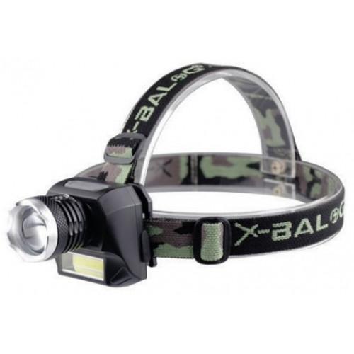 Налобный фонарик X-balog BL 6919A Zoom аккумуляторный