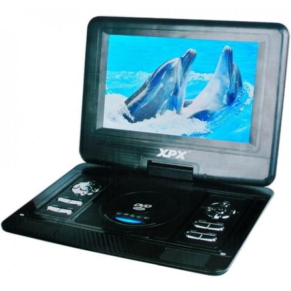 """Портативный DVD плеер XPX EA-1269D с цифровым TV-тюнером DVB-T2 12,1"""""""